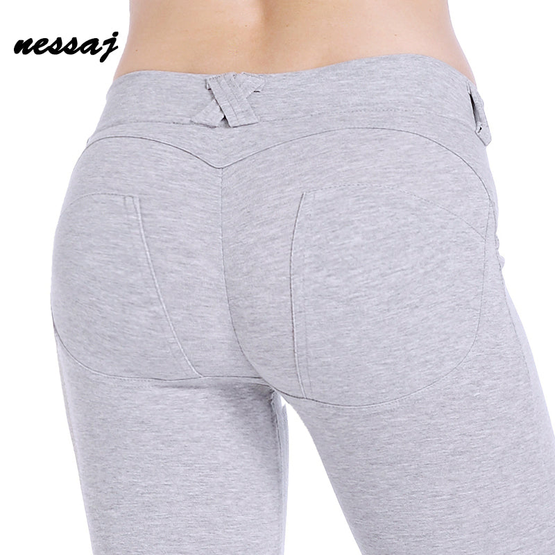 Low Waist Pants Women Hip Push Up Pants Legging Gothic Comfortable Leggings