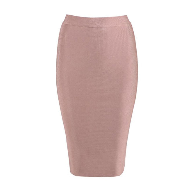 506f864d83 Pencil Skirts Women Winter Bodycon Bandage Rayon Stretch Knee Length  Celebrity Party Midi Skirts ...