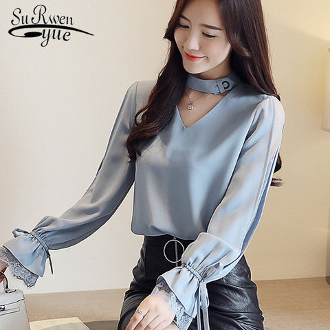 Dots Elastic Tops Women See Through Sheer Full Sleeve T Shirt Ruched Slim Fit Strap Crop Top Autumn