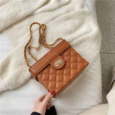 Crossbody Women Chain Handbags Clutch Small Square Bag Box Shoulder Messenger Bags