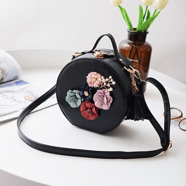 Metal Clip Small Square Bag Dinner Flower Shoulder Diagonal Handbag Shoulder Bags