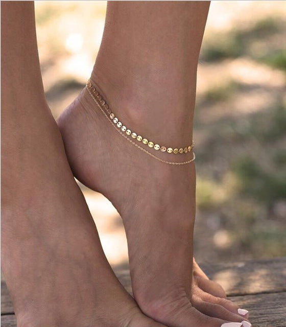 Vintage Imitation Pearls Anklet Women Bohemia Foot Beads Boho Ankle Bracelet Boho Toe Jewelry