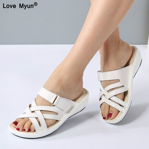 Rhinestone Sandals Pumps Shoes Women Sweet Luxury Platform Wedges Shoes Wedding High Heels