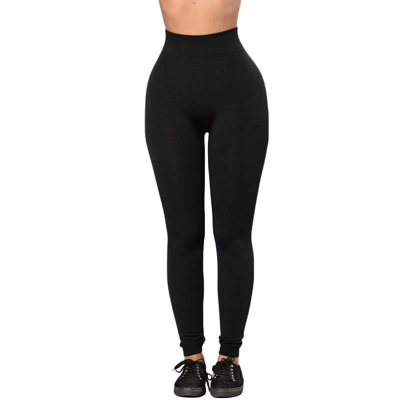 Autumn High Waist Women Black Legging Lace Up Wide Waist Fitness Show Thin Leggings