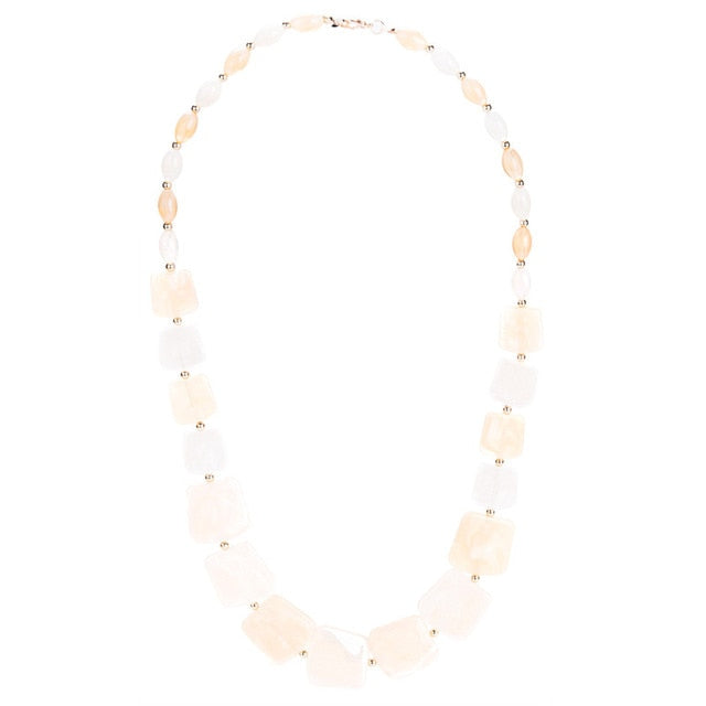 Maxi Statement Long Beads Necklaces Collier Spring Acrylic Pendant Collar Necklace Women
