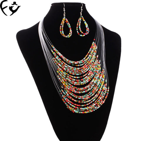 Are 20 Layer Line Beads Necklace Jewelry