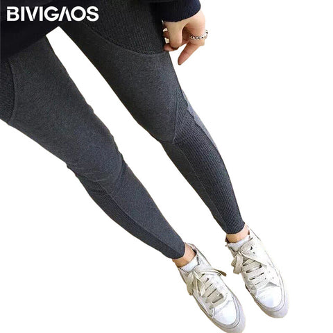 Army Green Tape Side Sporty Leggings Women High Waist Drawstring Long Pants Spring Workout Leggings