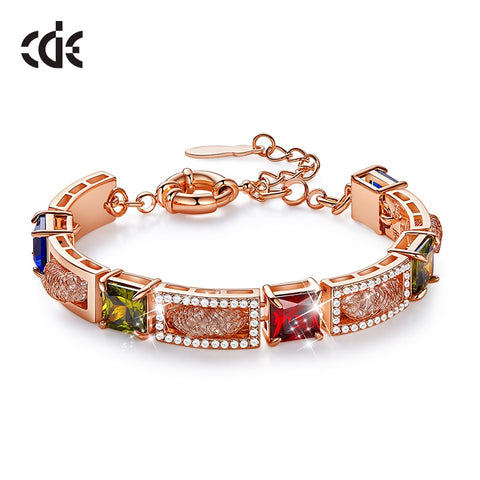 Adjustable Crystal Double Heart Bow Cuff Opening Bracelet Women Jewelry