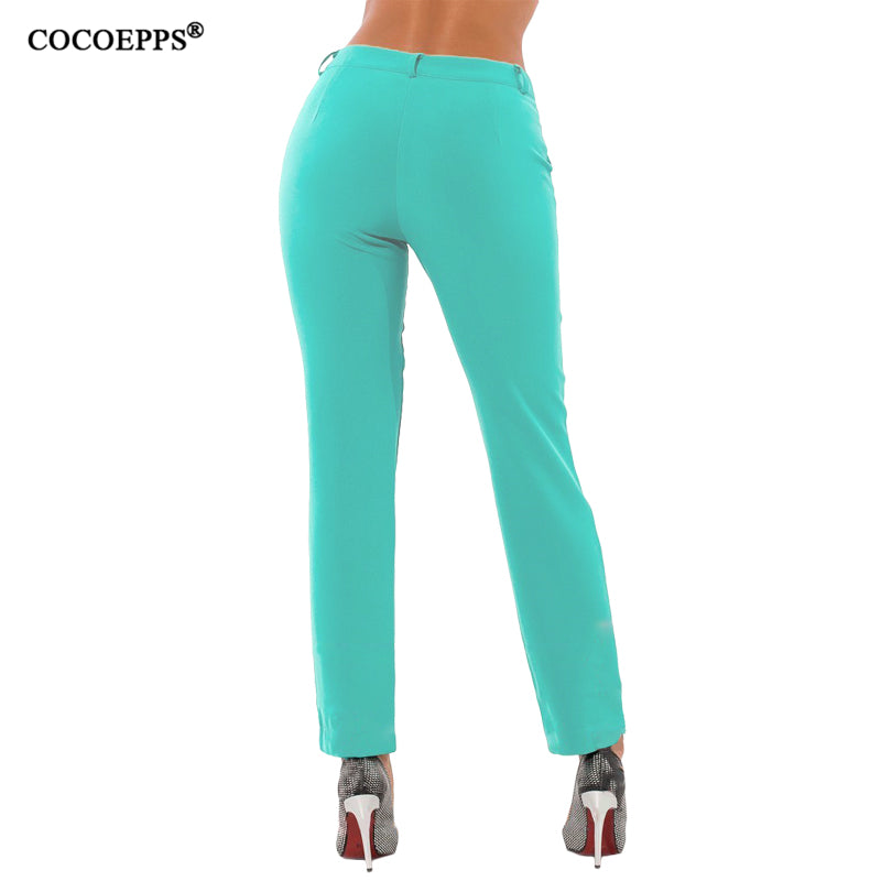 Spring Plus Size Casual Pencil Pants Women Skinny Solid Color Long Pants  Large Size Trousers Pants