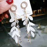 European American Popular Lace Tassel Earrings Jewelry