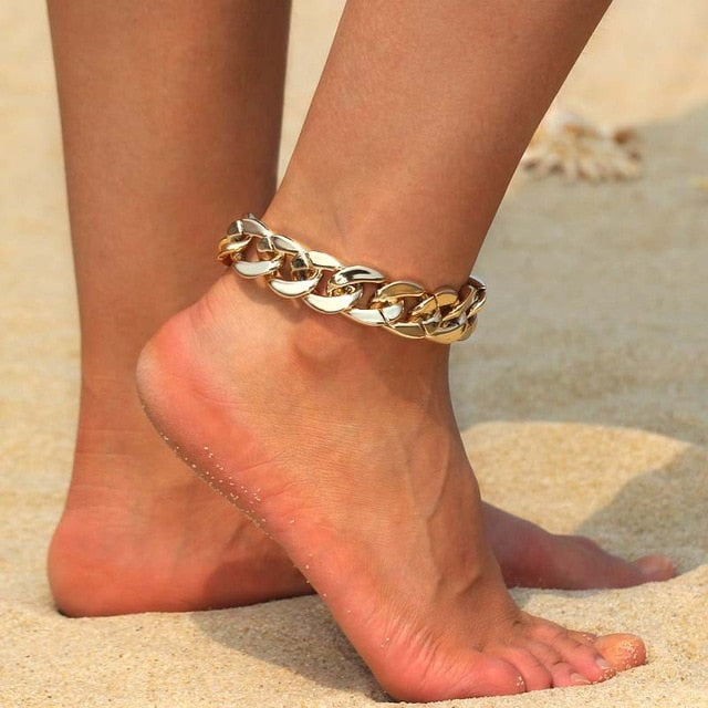 Anklet Bohemian Jewelry Creative Gold Ankle Bracelet Freedom Women Charm Beach Accessories