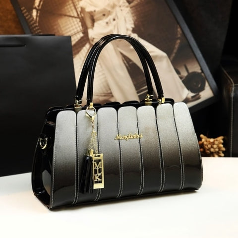 Atmospheric Patent Leather Messenger Handbag Women Shoulder Bag Casual Tote Party Cross Body Bags