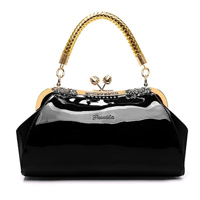 Women Shoulder Bag Large Capacity Patent Leather Handbags Designer Diamonds Bags