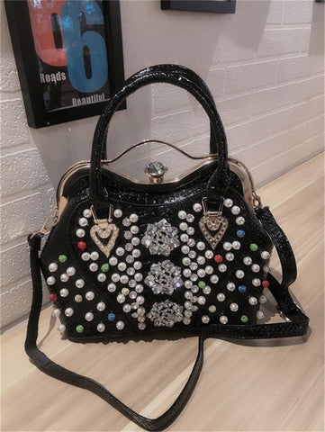 Rhinestone Handbag Personality Handbags Diamond Ladies Shoulder Messenger Shell Bag