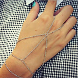 Charming Heart Star Bangles Women Gold Silver Color Metal Bracelets Statement Jewelry