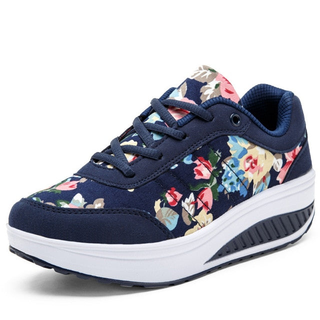 Women Shoes Sneakers Women Basket Comfortable Wedges Sneakers Vulcanize Shoes