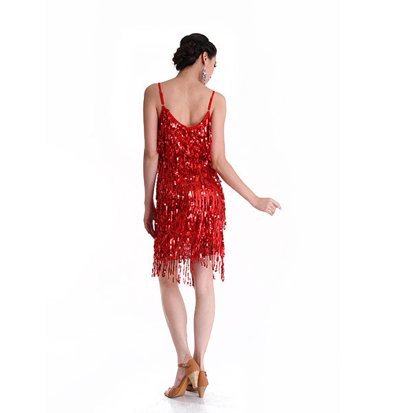 Latin Dance Dress Women Latin Dance Costume Latin Salsa Dresses Fringe Dress