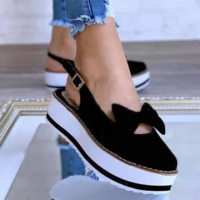 Summer Women Flat Loafer Shoes Slip On Platform Shoes Sewing Buckle Footwear