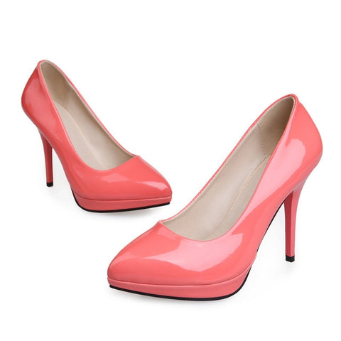 Plus Size Pumps Women Shoes Shallow Spring Summer High Heels Party Prom Shoes