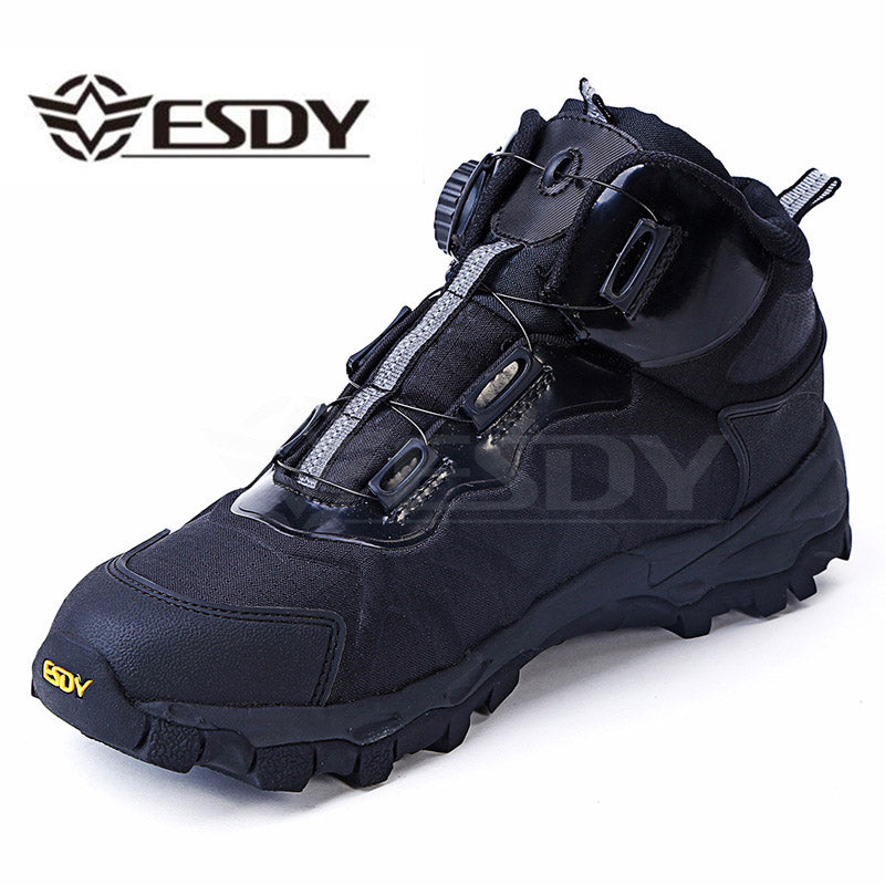 Men Tactical Military Winter Leather Lace Up Combat Army Ankle Boots Flat Safety Work Shoes