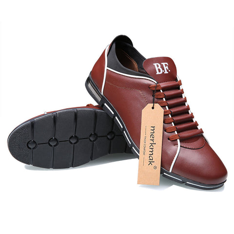 Mens Casual Shoes Leather Shoes Men Summer Flat Shoes