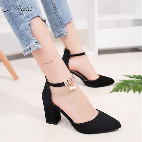 Summer Women Shoes Pointed Toe Pumps Shoes High Heels Boat Wedding Shoes
