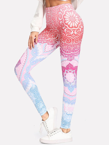 Vibrant Galaxy Ellie Performance Capri Leggings