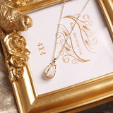 Jewelry Exquisite Women Copper Inlaid Zircon Pendant Necklace Beautiful Butterfly Party Necklace