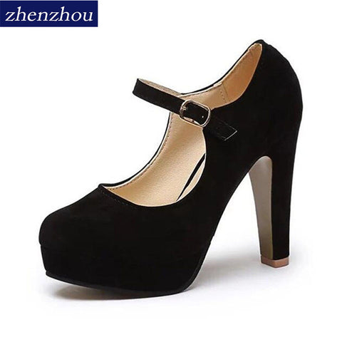 MCCKLE Women Buckle Ladies Shoes Wedges High Heels Platform Black Casual Bowtie Pumps - Shoes