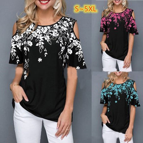 Plus Size Women T Shirt Short Sleeve Short V-neck Shirts Casual Tops Tight Waist Slim T-Shirts Casual