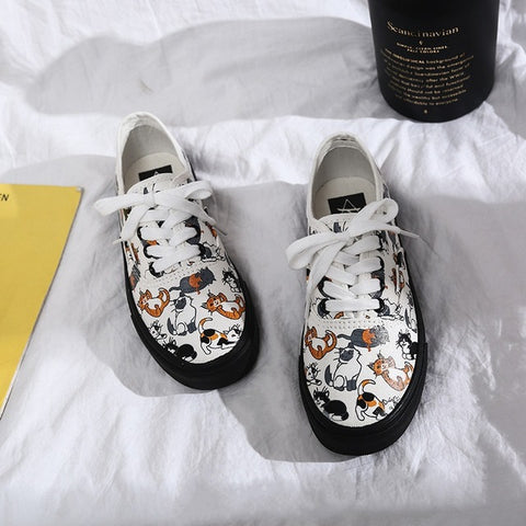 Sneakers Women Canvas Casual Shoes Trainers Walking Skateboard Flats Tennis Shoes