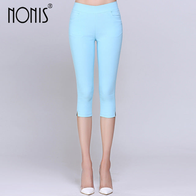 c3935dbdf63c4 ... Cropped Cotton High Stretch Leggings 3/4 Pants Knee Length Legging  Thermal Breeches Trousers Capris ...