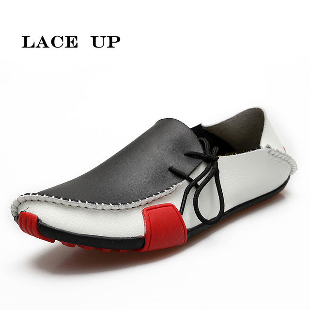 8dbd66d623b7e ... Men Leather Shoes Loafers Summer Autumn Moccasins Shoes Casual Driving  Shoes ...