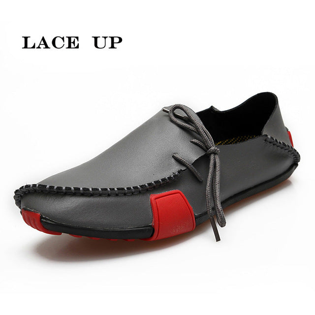 Men Leather Shoes Loafers Summer Autumn Moccasins Shoes Casual Driving Shoes