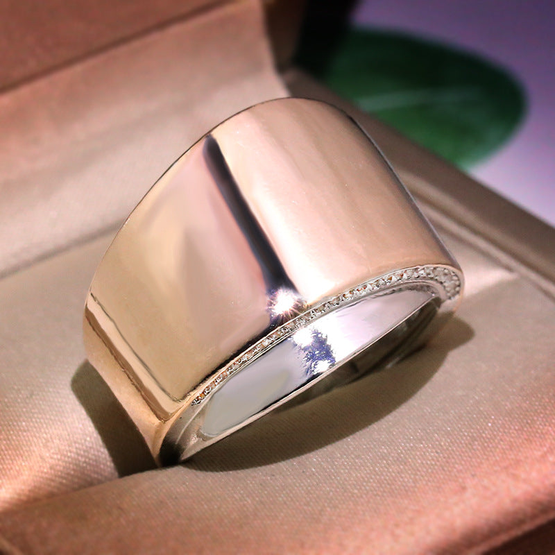 Personality Wave Design Comfort Ring Women Wedding 925 Silver Rose Gold Color Blend Jewelry