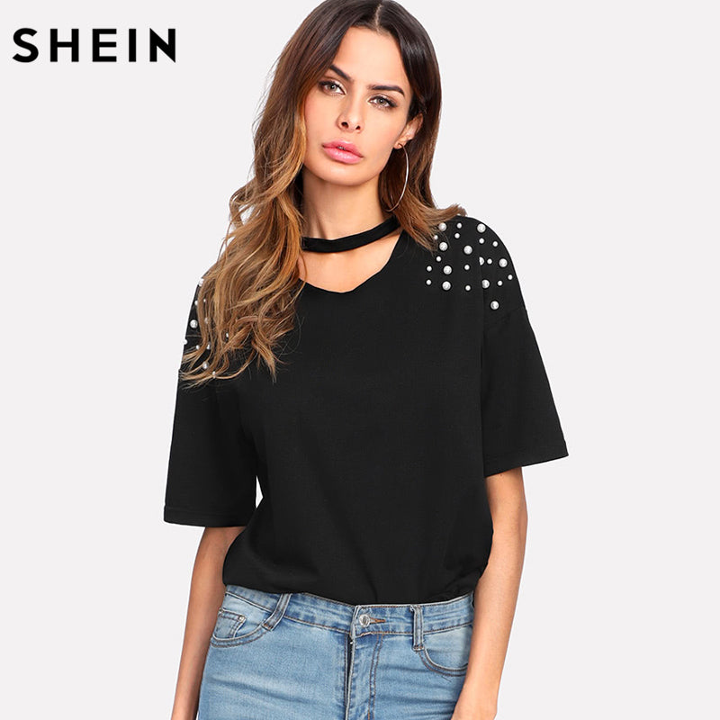 Tops for Women Latest Ladies Elegant Chiffon Blouse Summer Casual V-Neck Short Sleeve Tee Shirts Pullover