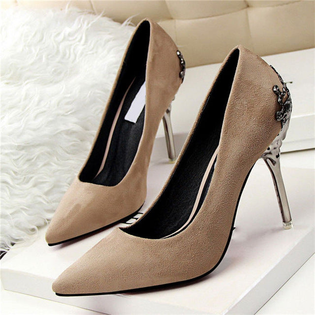 High Heels Shoes Women Pumps Red Gold Silver High Heels Shoes Wedding Party Shoes