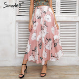 Tassel Floral Print Long Skirt Button Tie Up Beach Maxi Skirt Casual Streetwear Boho Summer Skirt