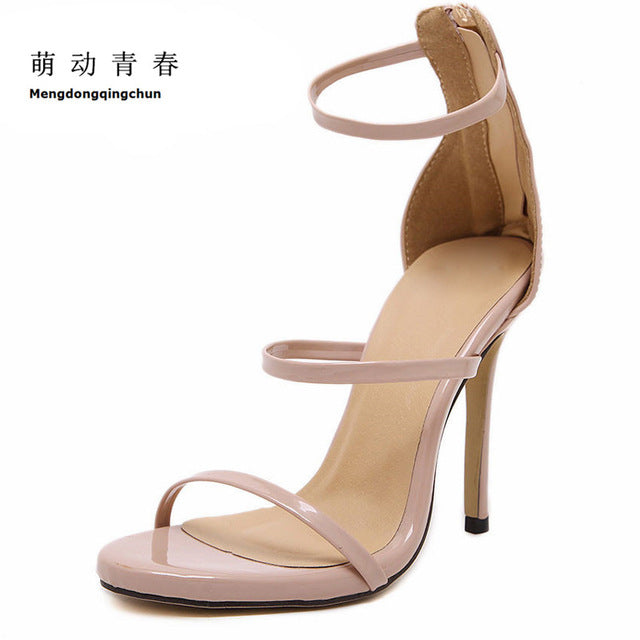 Women Pumps High Heels Lace Up Gladiator Sandals Thin Heeled Gladiator Shoes