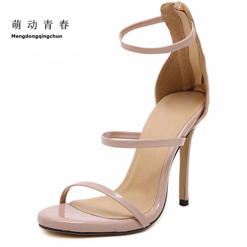 72199094b54 ... Women Pumps High Heels Lace Up Gladiator Sandals Thin Heeled Gladiator  Shoes ...