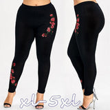 Summer Pants Women Plus Size Solid Appliques High Waist Top Long Pants