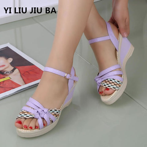 Summer Slippers Women Colorful Crystal Square Heels Slippers Shoes Big Size Casual Slides