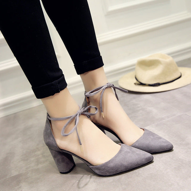 4a0320bcc8 ... Summer Women Shoes Pointed Toe Pumps Shoes High Heels Boat Shoes  Wedding Shoes Side Straps ...