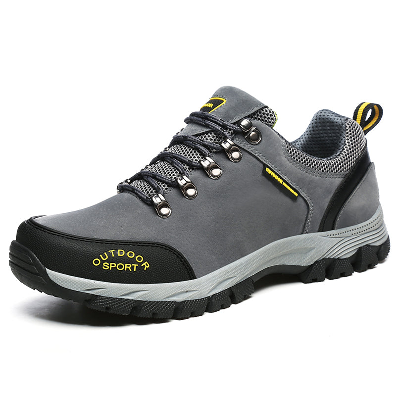 Men Shoes Comfortable Waterproof Outdoor Casual Shoes Lace-Up Spring Autumn Rubber Sneakers