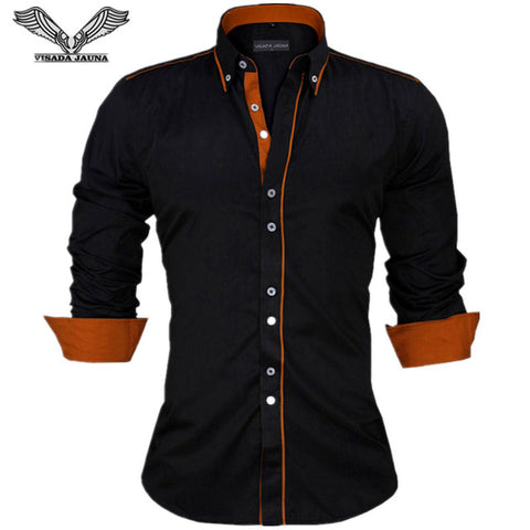 Striped Shirt Men Long Sleeve Casual Shirt Chemise Slim Fit Tuxedo Shirt Camisa