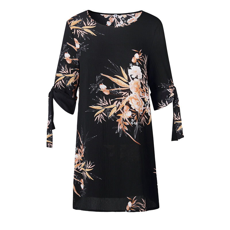 59c6e89338 Women Short Beach Casual Pencil Shirt Dress Summer Black Print Loose  Elegant Mini Party Dresses