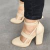 Woman Pumps Shoes High Heels Plus Size Pumps Casual Spring Summer Heels Ankle Strap Wedding Shoes