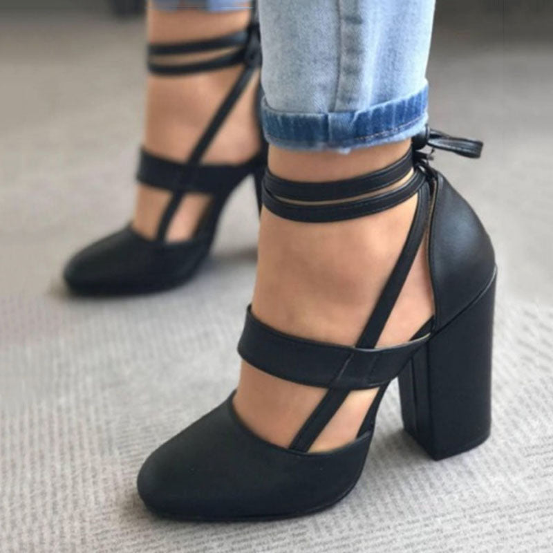 ... Woman Pumps Shoes High Heels Plus Size Pumps Casual Spring Summer Heels  Ankle Strap Wedding Shoes ...