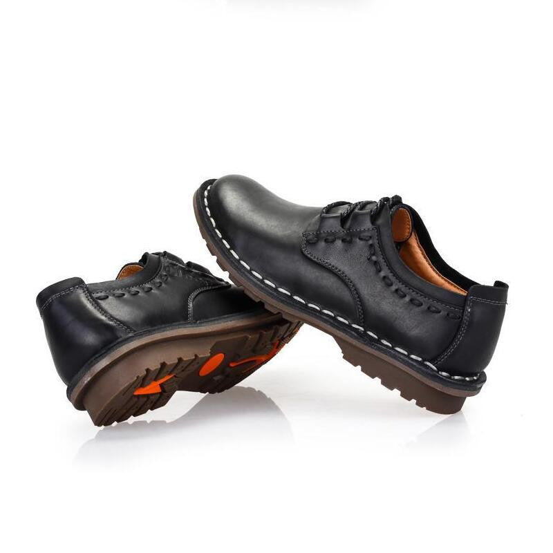 d198b15f61e ... Men Shoes Casual Genuine Leather Flats Driving Shoes Business Casual  Shoes ...
