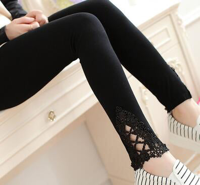 Plus Size Women Cotton Legging Pants Summer Solid Color Leggings